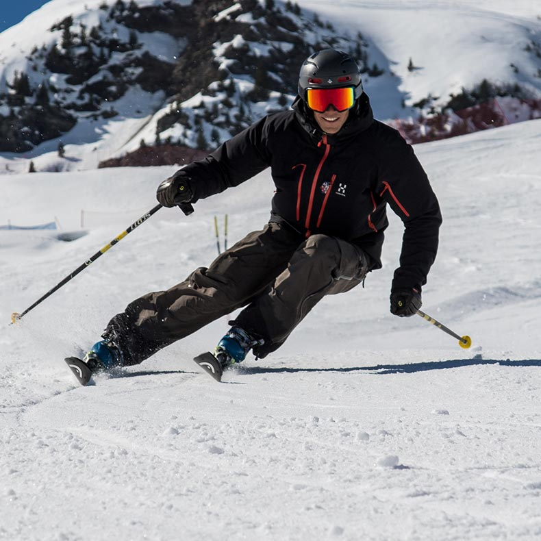 Bruce Crowley, private ski instructor skiing